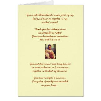 Cartão de aniversário do salmo 139