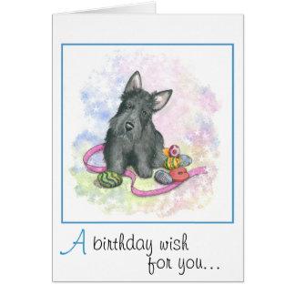 Cartão de aniversário do Scottie