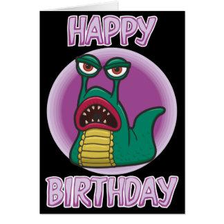 Cartão de aniversário do Slug do espaço do