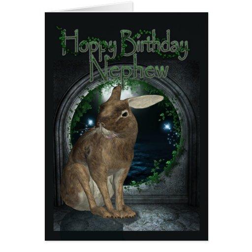 Cartão de aniversário do sobrinho - aniversário Ho