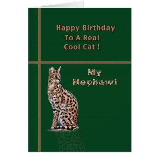 Cartão de aniversário do sobrinho com Ocelot