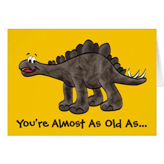 Cartão de aniversário do Stegosaurus