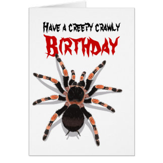 Cartão de aniversário do Tarantula