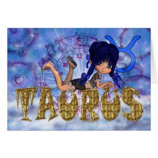 Cartão de aniversário do Taurus bonito