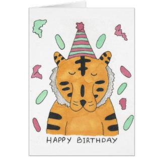Cartão de aniversário do tigre