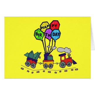 Cartão de aniversário do trem de Lil Choo Choo