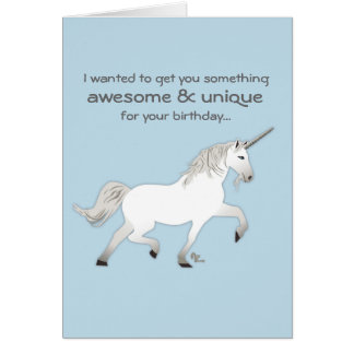 Cartão de aniversário do unicórnio