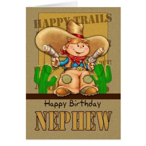 Cartão de aniversário do vaqueiro do sobrinho - Ro