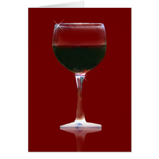Cartão de aniversário do vinho tinto de amante de