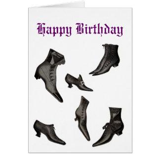 Cartão de aniversário do vintage