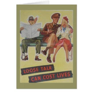 Cartão de aniversário do vintage WW2