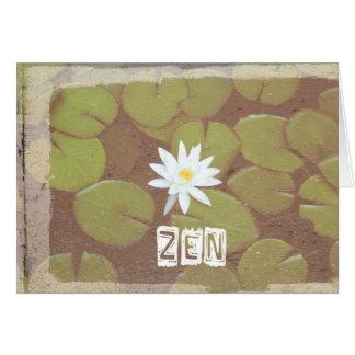 Cartão de aniversário do zen