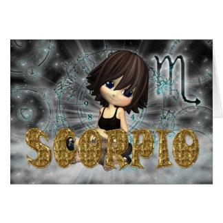 Cartão de aniversário do zodíaco da Escorpião com