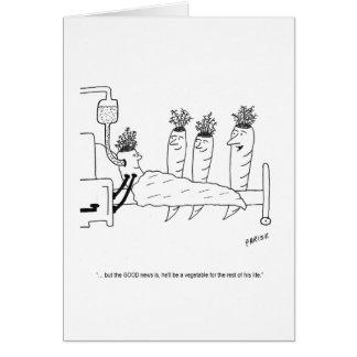 Cartão de aniversário doente dos desenhos animados