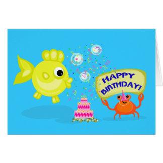 Cartão de aniversário dos amigos 2 da praia