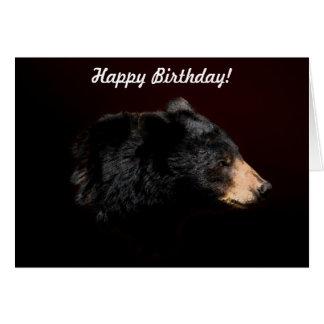 Cartão de aniversário dos animais selvagens do