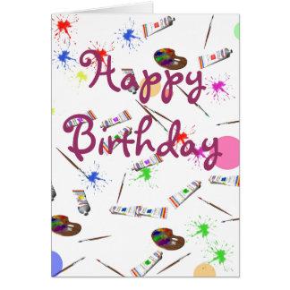 Cartão de aniversário dos artistas
