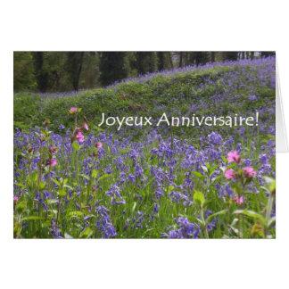 Cartão de aniversário dos Bluebells - cumprimento