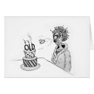 Cartão de aniversário dos dentes do vôo
