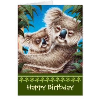 Cartão de aniversário dos Koalas