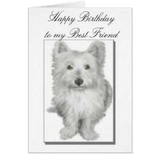 Cartão de aniversário dos melhores amigos