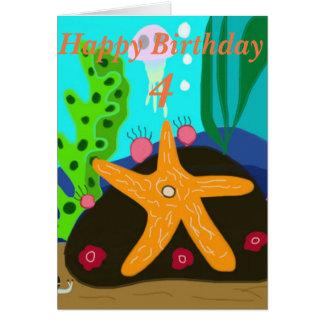 Cartão de aniversário editável da idade da estrela