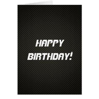 Cartão de aniversário elegante da fibra do carbono