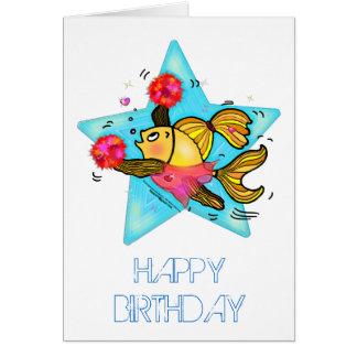 Cartão de aniversário engraçado bonito da história