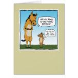 Cartão de aniversário engraçado: Cavalo pequeno