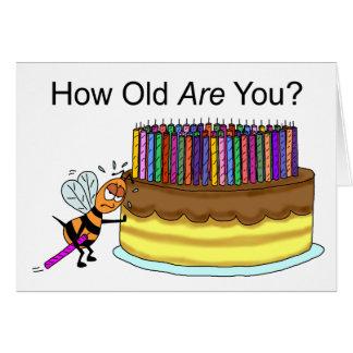 Cartão de aniversário engraçado:  Cera de abelha