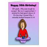 Cartão de aniversário engraçado:  Comemorando o 50