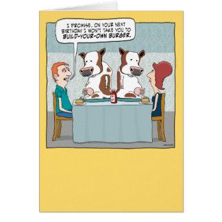 Cartão de aniversário engraçado: Construa seu