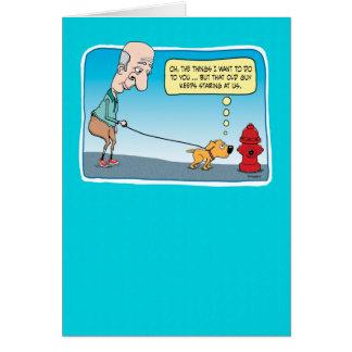 Cartão de aniversário engraçado da boca de
