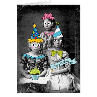 Cartão de aniversário engraçado da foto
