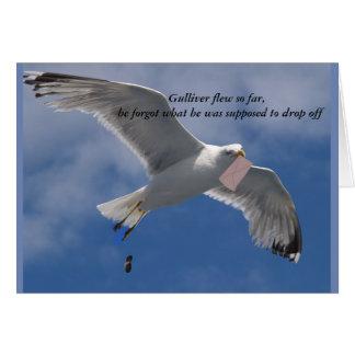 Cartão de aniversário engraçado da gaivota