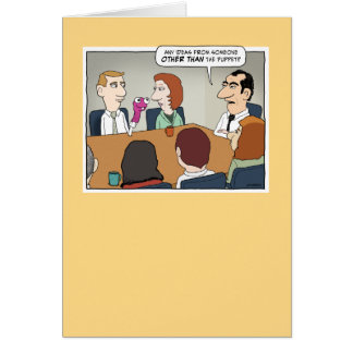 Cartão de aniversário engraçado da reunião de