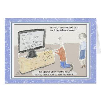 Cartão Cartão de aniversário engraçado da tecnologia: