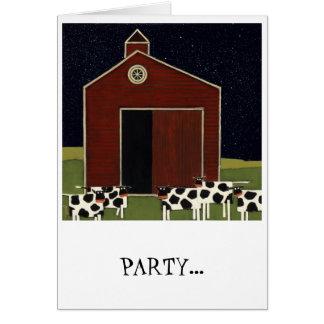 cartão de aniversário engraçado da vaca cómico