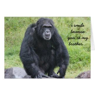 Cartão de aniversário engraçado de Chimapanzee