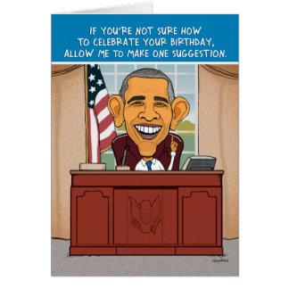 Cartão de aniversário engraçado de Obama