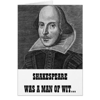 Cartão de aniversário engraçado de Shakespeare