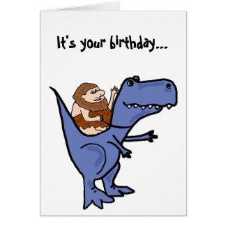 Cartão de aniversário engraçado de T-Rex do BR