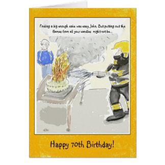 Cartão Cartão de aniversário engraçado do 70 para homens:
