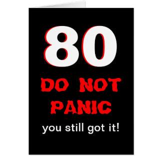 Cartão de aniversário engraçado do 80 para homens