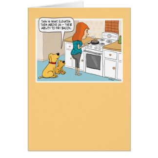 Cartão de aniversário engraçado do bacon do amor