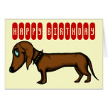 Cartão de aniversário engraçado do dachshund