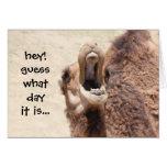 Cartão de aniversário engraçado do dia de corcunda