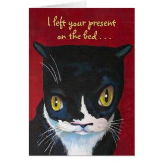 Cartão de aniversário engraçado do gato
