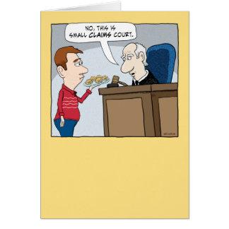 Cartão de aniversário engraçado do juiz da corte