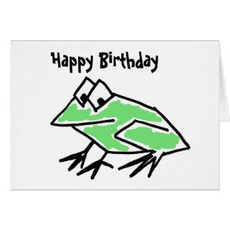 Cartão de aniversário engraçado do sapo dos